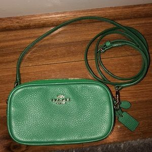 Coach Green Crossbody Purse- only used once/twice